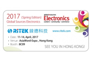 2017 Global Sources Electronics (Spring Edition), Welcome to RITEK booth!