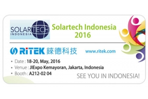 2016 Solartech Indonesia, Welcome to RITEK booth!