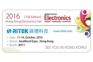 2016 Hong Kong Electronics Fair( Fall Edition), Welcome to RITEK booth!